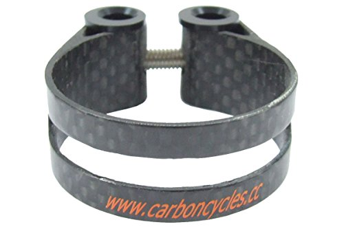 eXotic Full Carbon Seat Post Clamp 38.6 mm 12gm Ti Bolt 3K Finish Light ()