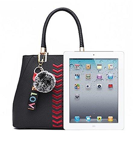 Black Handle Shoulder Nodykka Tote Handbags Crossbody For Bags Purse Leather Satchel Women Top z7R7Xqwx
