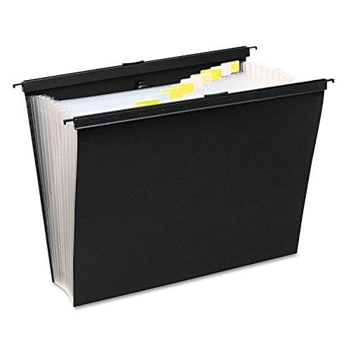 Wilson Jones 68205 Slide-Bar Expanding Pocket File, 13 Pockets, Poly, Letter, Black (Wilson Jones Slide Bar)