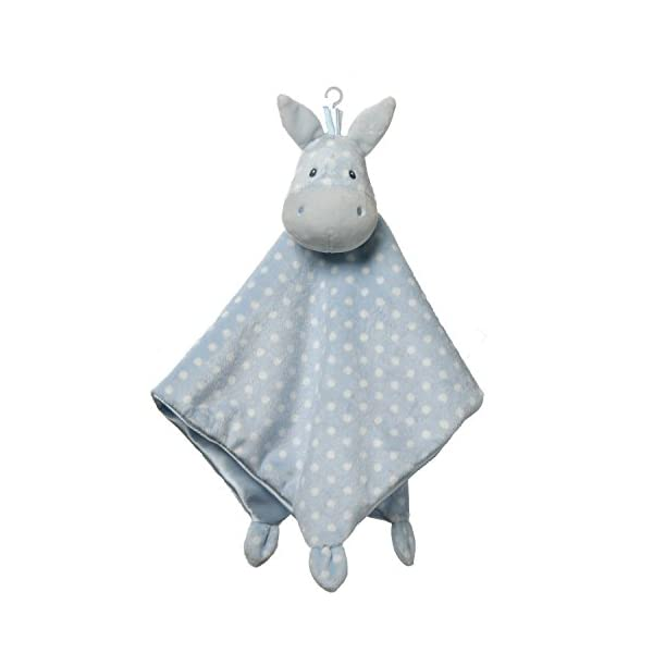 GUND Baby Roly Polys Horse Lovey Stuffed Animal Plush Blanket, Blue, 14″