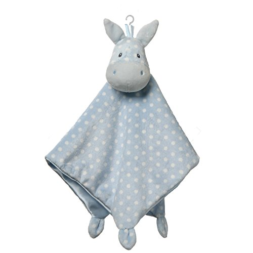 GUND Baby Roly Polys Horse Lovey Stuffed Animal Plush Blanket, Blue, 14