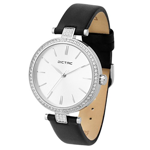 Dictac Waterproof Analog Crystal Leather product image
