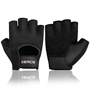 Weight Lifting Gym Gloves with Anti-Slip Leather Palm for Workout Exercise Training Fitness for Men & Women