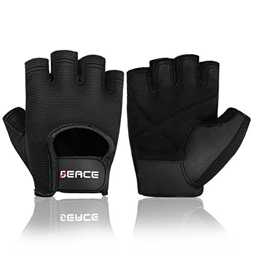 - BEACE Weight Lifting Gym Gloves with Anti-Slip Leather Palm for Workout Exercise Training Fitness and Bodybuilding for Men & Women
