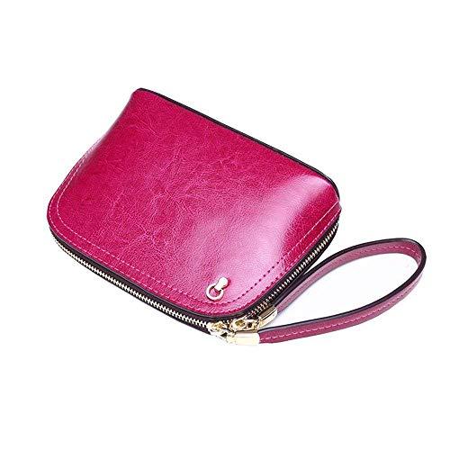 Cuero Mujer color Malluo gris Mensajero Eeayyygch Bolso Púrpura Para De Tamaño Rosado Ewqw6RY