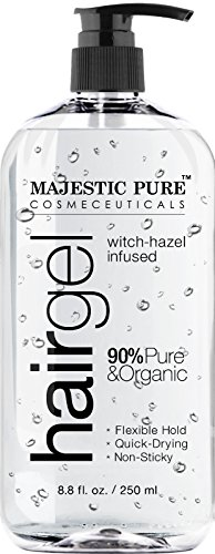 Majestic Pure Styling Hair Gel for Men & Woman with Organic Aloe Vera & Witch Hazel, 8.8 fl oz
