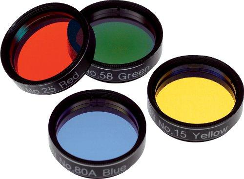 Orion 05514 Basic Set of 1.25-Inch Four Color Filters (Black)