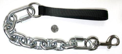 Jumbo Chain Dog Lead with Nylon Handle/black, My Pet Supplies