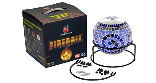 Fireball Automatic Fire Extinguisher Ball with Stand and Sign Modern Design