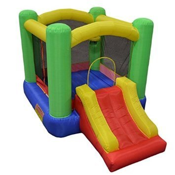 New Improved - My Bouncer Little Castle Bounce 118 L x 78 W x 72 H Ball Pit Bopper w/ Slides & Ball Hoop - Phthalate Free Puncture Resist Nylon Material - (Other Models & Sizes Available, Sold thru