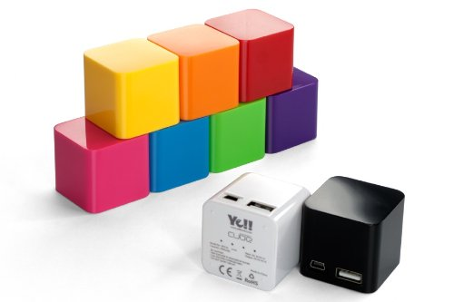 Yell BPS76 2000mAh USB Energy Cube with 8 Adapters for Smartphones, Tablets, and USB devices