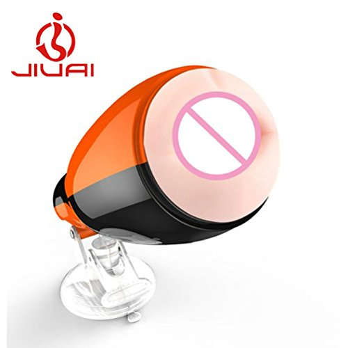 Kimloog Sex Toys For Men 20 Frequency Pulse USB Charging Male Electric Masturbation Oral Powerful Aircraft Cup Sex Products (Orange)
