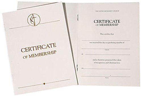 United Methodist Certificates of Membership Without Service (Pkg of 3) from Brand: Abingdon Press