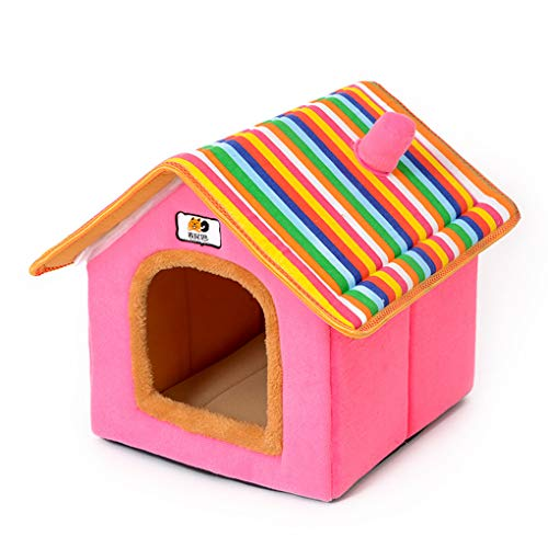 Krastal Dog House Fashion Removable Cover Pet Bed Warm Soft Dog Kennel Nest Cushion Cat Puppy House