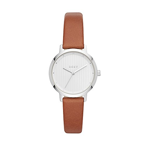 Dkny Womens Leather - DKNY Women's The The Modernist Stainless Steel Quartz Watch with Leather Strap, Brown, 14 (Model: NY2676)