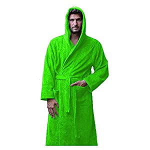 Terry Cotton Hooded Robes for Men and Women, Unisex Adult Bamboo Bathrobes