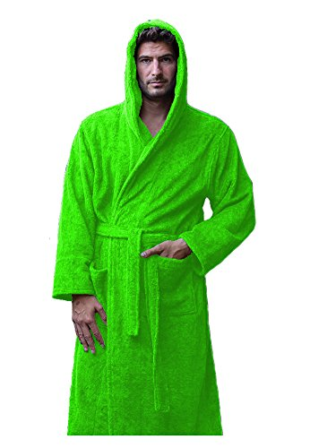 Terry Cotton Womens comfy Bathrobe towels - Apple Green, ONE SIZE