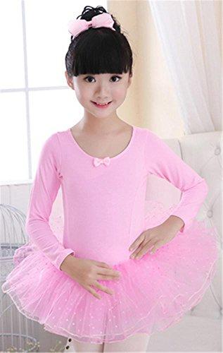 enfants Ballet tutus pour danse de pour Robe pink d enfants 'entraînement longtemps I0qtz1