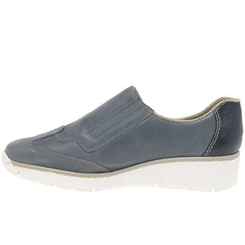 Chaussures Bleu Rieker Femme Casual Host gUqCwA0