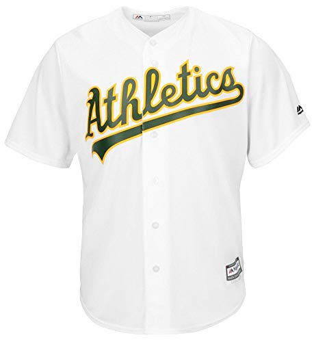(Majestic Oakland Athletics Home White Cool Base Replica Jersey (XL))