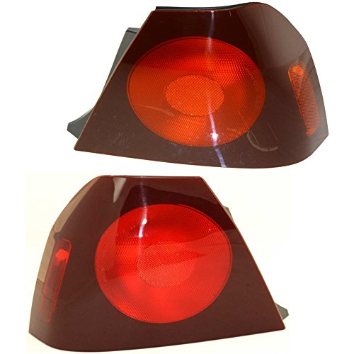 Impala Tail Left Chevrolet 2004 (Evan-Fischer EVA15672058380 Tail Light for 2004 Chevrolet Impala Set of 2 Halogen Red Lens With Bulb(s) Left and Right Side Outer)