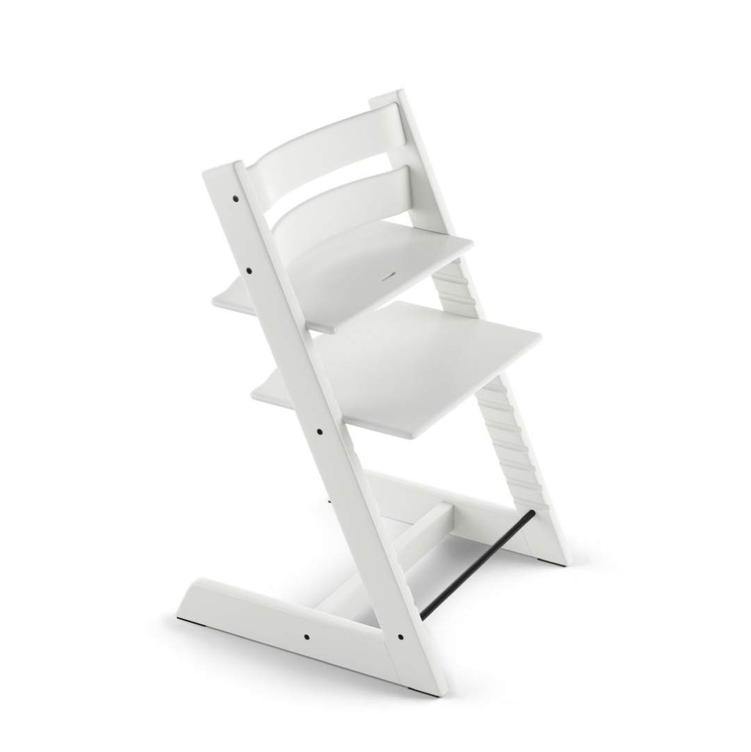 Tripp Trapp by Stokke Adjustable Wooden White Baby High Chair (Chair Only)