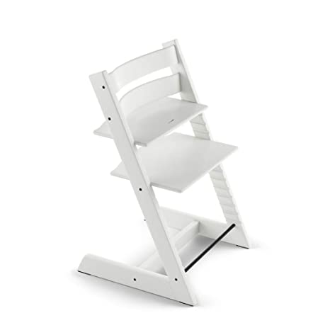 Super Stokke Tripp Trapp Chair White No Harness No Extended Andrewgaddart Wooden Chair Designs For Living Room Andrewgaddartcom