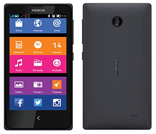Nokia X RM980 Black Dual SIM - Factory Unlocked - International Version No Warranty Dual Sim Unlocked Phone