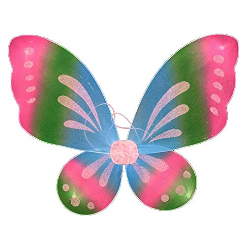 Dushi Butterfly Fairy Wings Dress Up Wings Birthday Party Favor Accessory Halloween Costume (Rainbow) -