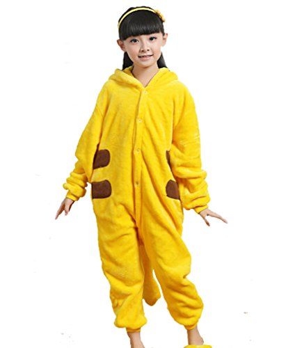 Children Pikachu Onesies, Halloween Cosplay costumes Cartoon Pajamas