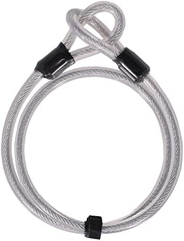 TekBox Double Loop BICYCLE CABLE LOCK Long Bike Extender 4.5 Metres