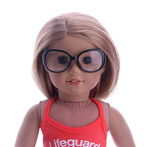 Matoen Accessory Toy Daily Costumes Sun Glasses for 18 Inch American Girl Doll (A, n1531) -