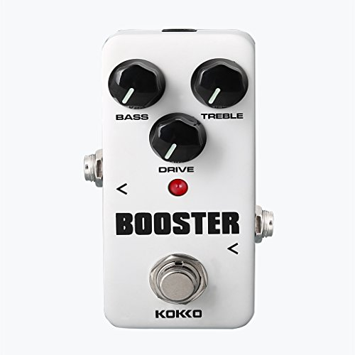 MagiDeal Mini Effect Pedal Booster with True Bypass for Electric Guitar White by MagiDeal