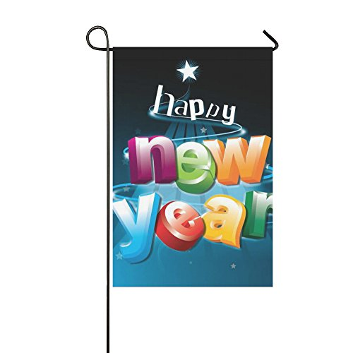 llyaon.iao-Double Sided Garden Flag -Happy New Year-Best for Party Yard and Home Outdoor Decor (Photo Garden Flag)