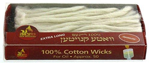 100 Cotton Wicks Extra Smokeless product image