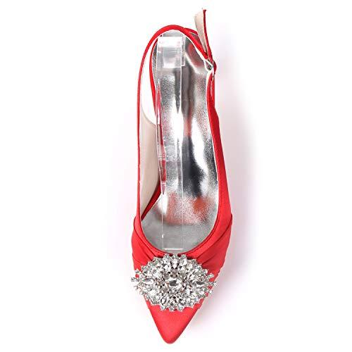 Satin Buckle Champagne 6cm Altos L Blanco Fy160 yc Tacones Zapatos Mujeres De Rhinestones Boda Las Platform H7qPH0