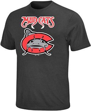 (Majestic Adult MiLB Replica Crewneck Team Jersey Carolina Mudcats)