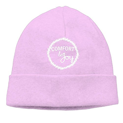 Richard Lyons Men's Comfort And Joy Christmas Wreath Elastic Travel Pink Beanies Knit (New York Yankees Comforter)