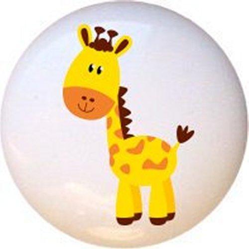 Giraffe New Zoo Animals by PP Decorative Glossy Ceramic Drawer Pull Dresser Knob
