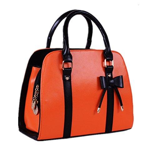 sfpong - Bolso mochila  para mujer beige naranja