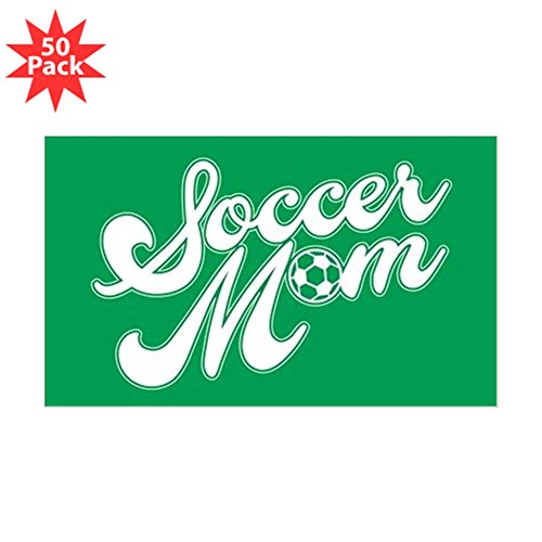 CafePress - Soccer Mom - Sticker (Rectangle 50 pk) by CafePress