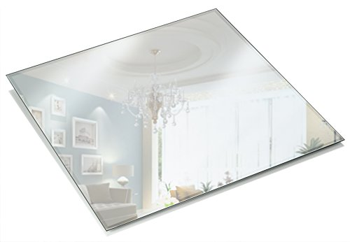 Light In The Dark 12 Inch Square Mirror Candle Plate 3 mm Thick with Beveled Edge Set of 12]()