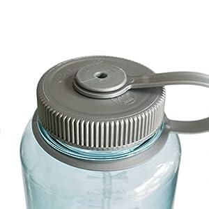 Nalgene Tritan Wide Mouth BPA-Free Water Bottle, Seafoam, 32-Ounces