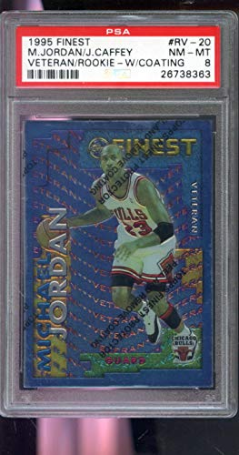 1995-96 Topps Finest Veteran Rookie #RV-20 Michael Jordan Jason Caffey Insert NBA NM-MT PSA 8 Graded Basketball Card