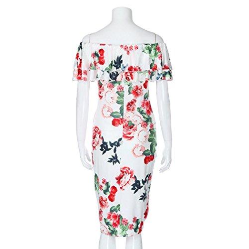Slash Beikoard Robe Fesses Full Multicolore t Sexy Robes Impression Neck Vetement Manches Femme Femme Courtes X1BXxO