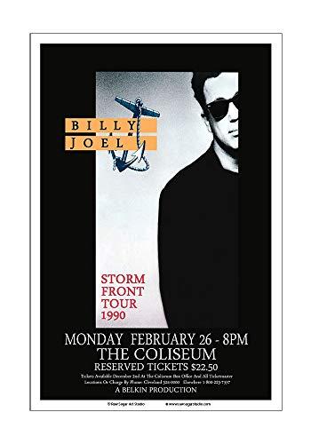 Raw Sugar Art Studio Billy Joel 1990 Cleveland Concert Poster