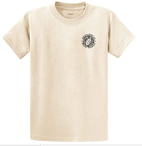(Koloa Surf.(tm)-2 Side Honu Hawaiian Turtle T-Shirt-Natural/b-M)