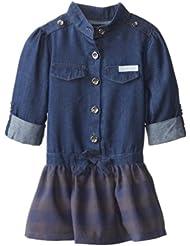 (3.2折)$13.99,Calvin Klein Denim Woven 牛仔连衣裙,