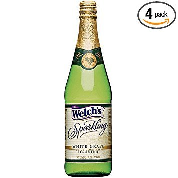 Welch's Sparkling Grape Juice Cocktail - Non Alcoholic 25.4oz/750ml Glass Bottle (Pack of 4) (Grape Juice Cocktail)