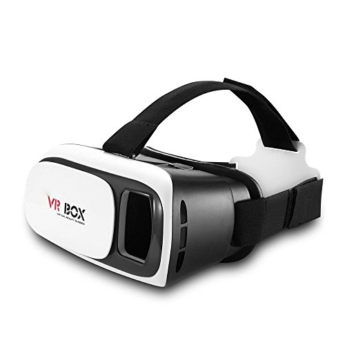 """LESHINE 3D Head Mount VR Glasses Generation 2 Virtual Reality Headset for 3.0~6.0"""" iPhone Android Smartphone"""